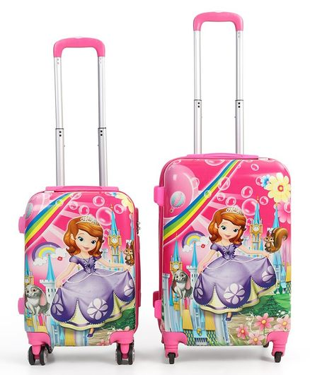 Disney Sofia The First Trolley Bags Set of 2 - Pink