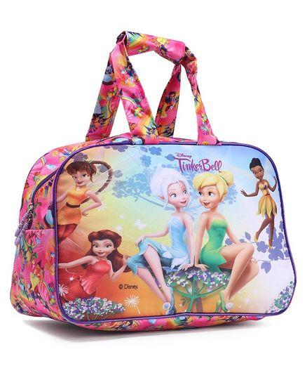 Disney Fairies Tinker Bell Duffel Bag Pink - Length 12 Inch