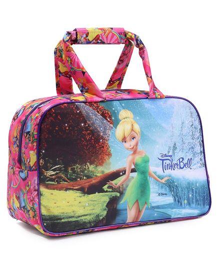 Disney Fairies Tinker Bell Duffel Bag Pink Blue - Lenght 12 Inch