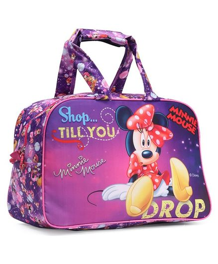 Disney Minnie Mouse Duffel Bag Purple - Height 12 inches