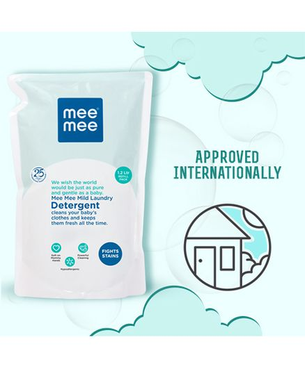 Mee Mee Mild Laundry Detergent, 1.2 Liters