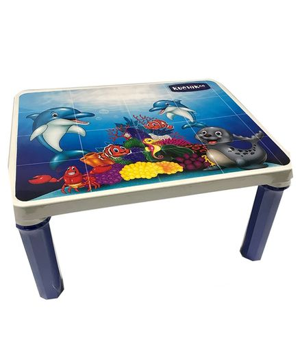 Kuchicoo Dolphin Print Bed Table - Blue