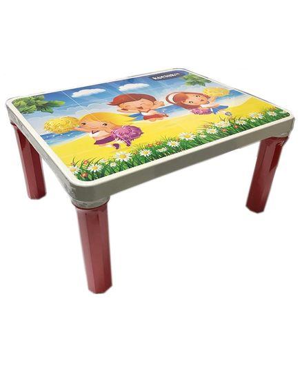 Kuchicoo Cartoon Print Bed Table - Multicolour