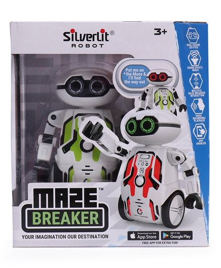 SilverLit Maze Breaker Robot Toy With Sound Effect And Music - Green White