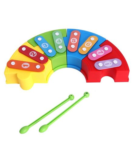 Hrijoy Rainbow Musical Toy With Sticks - Multicolor