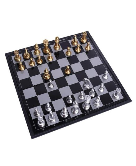 Hrijoy Magnetic Chess - Silver & Gold