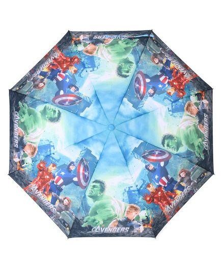 John's Umbrellas Avengers Print - Sea Blue