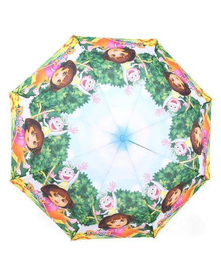 John's Umbrellas Dora Print - Blue Green