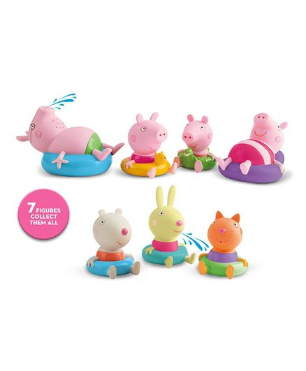 IMC Toys Peppa Pig Bath Toys Figurine Multicolor - Pack of 2
