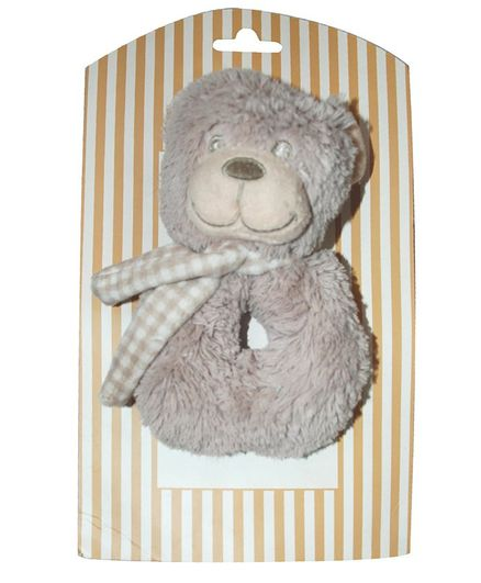 Abracadabra Ring Rattle Bear - Brown