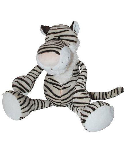 Abracadabra Zebra Plush Toy - Cream Black