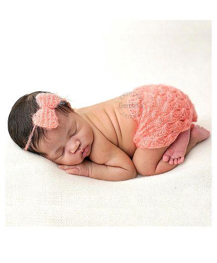 Bembika Newborn Chunky Mohair Photography Prop Set of 2 - Pink