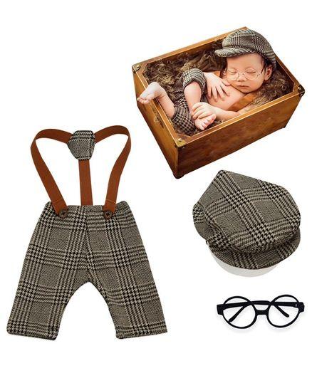 Bembika Newborn Photography Costume Prop Set of 2 - Grey