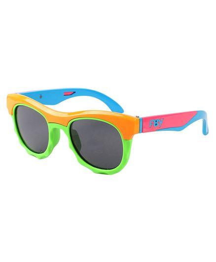 Spiky Colorblock Polarised UV Protected Sunglasses - Orange