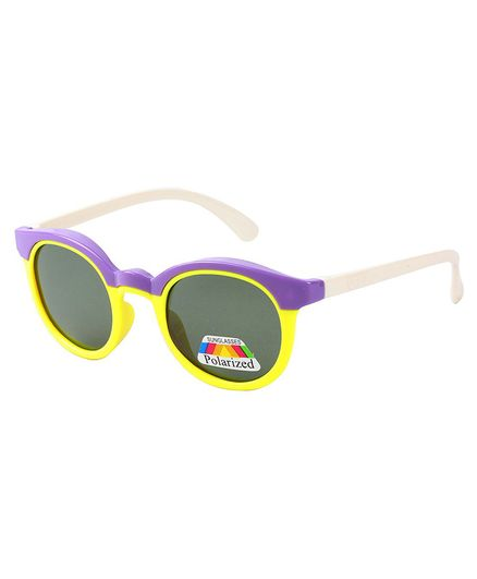 Spiky Dual Shaded Polarised UV Protection Sunglasses  - Violet