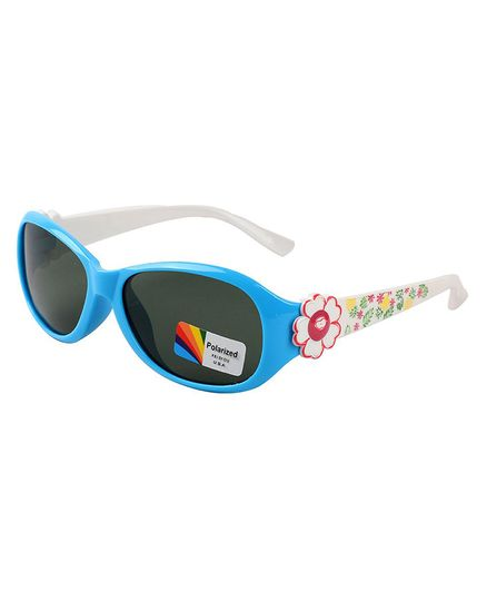 Spiky Flower Printed Polarised UV Protection Sunglasses - Blue