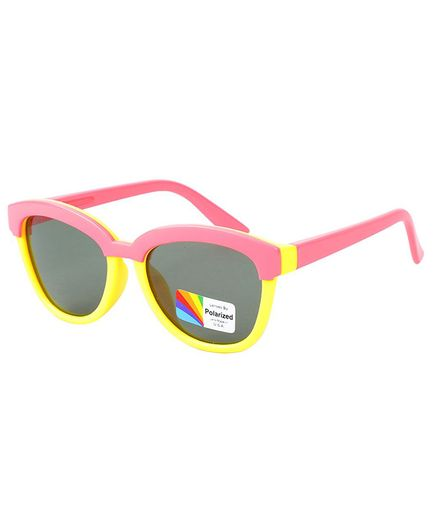 Spiky Colour Block UV Protected Plastic Sunglasses - Pink