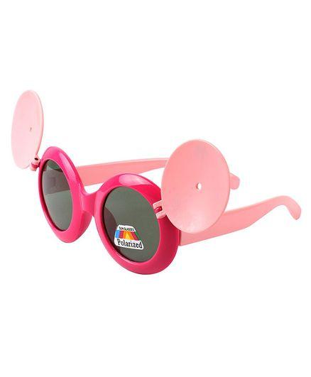 Spiky UV Protected Panda Design Plastic Sunglasses - Pink
