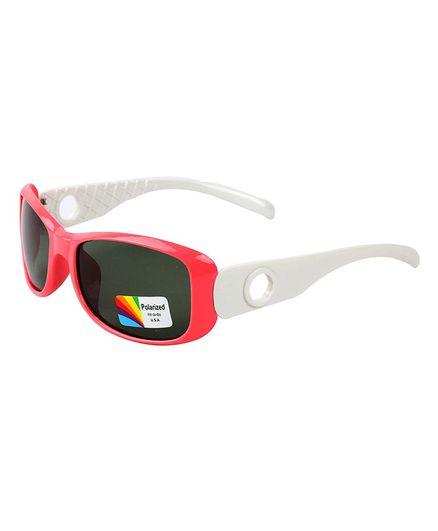 Spiky Colour Block UV Protected Plastic Sunglasses - White