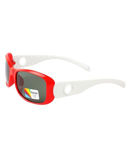 Spiky Colour Block UV Protected Plastic Sunglasses - Red
