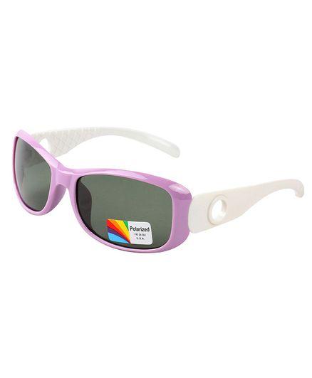 Spiky Colour Block UV Protected Plastic Sunglasses - Purple
