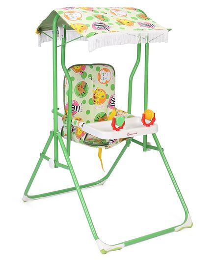 Mothertouch Garden Swing Animal Print - Green