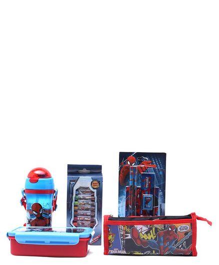 Marvel Spider Man School Kit Pack of 5 - Blue Red
