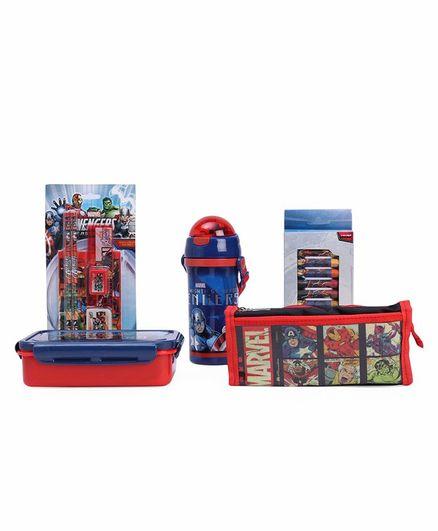 Marvel Avengers School Kit Pack of 5 - Red Blue