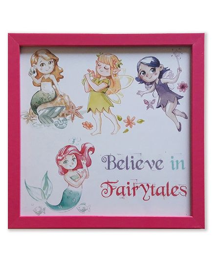 Spaces By Sonam Photo Frame Believe in magic - Maroon
