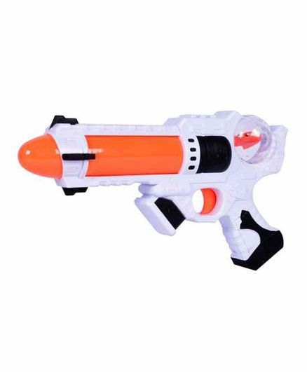 Planet of Toys Space Weapon With Light and Sound - Orange