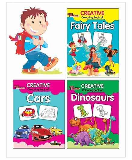 Creative Colouring Book Pack of 3 - English