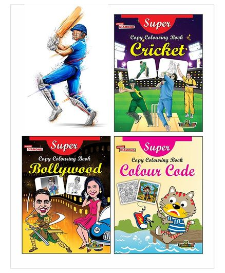 Super Copy Colouring Books Themed Set of 3 - English