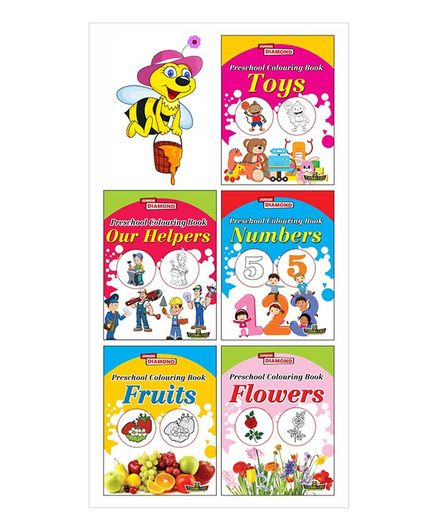 Preschool Colouring Book Set of 5 Books - English