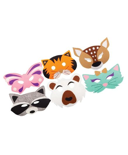 Funskool Mask Party 6 Animal Face Mask - Green
