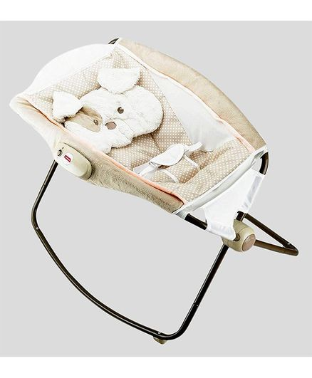 Toyshine Deluxe Sleeper Baby Rocker With Calming Vibrations - Cream White