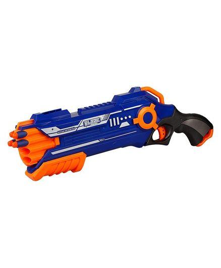 Toyshine Blaze Storm Manual Soft Bullet Gun - Blue Orange
