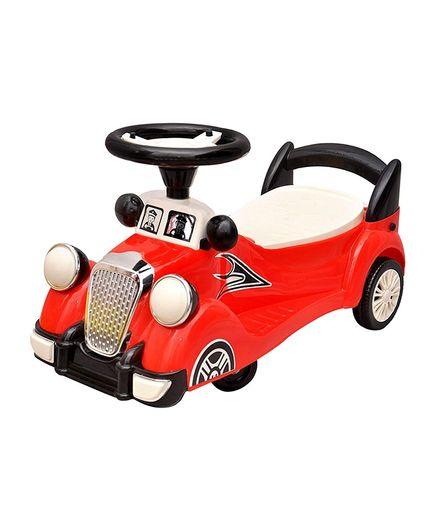 Toyshine Plastic Vintage Ride On Car Toy - Ride