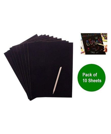 Syga Scratch Drawing Sheets Set of 10 - Black