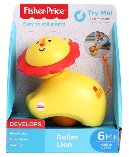 Fisher Price Musical Roller Lion - Yellow