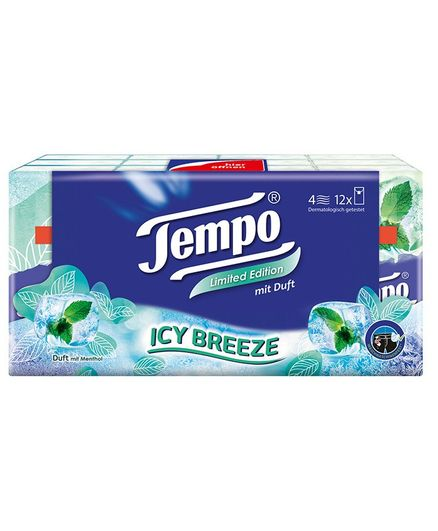 Tempo Limited Edition Icy Breeze Pocket Handkerchiefs - Pack of 12