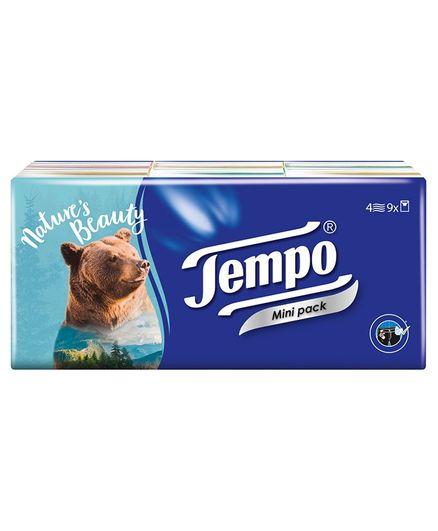 Tempo Pocket Handkerchief Mini - Pack of 9
