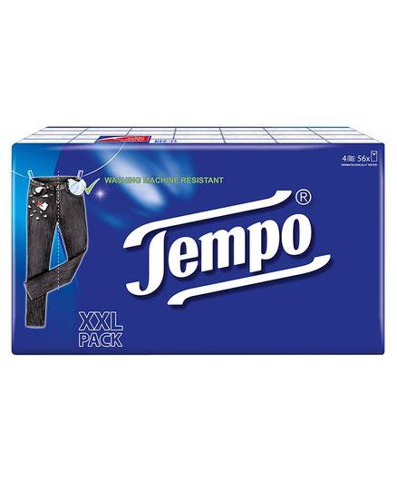 Tempo Classic Pocket Handkerchief Pack of 56 - Blue