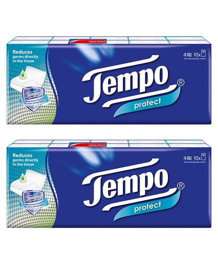 Tempo Protect Handkerchief Tissue - Pack of 20