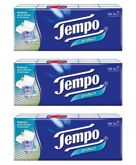 Tempo Protect Handkerchief Tissue 4 Ply - Pack of 30