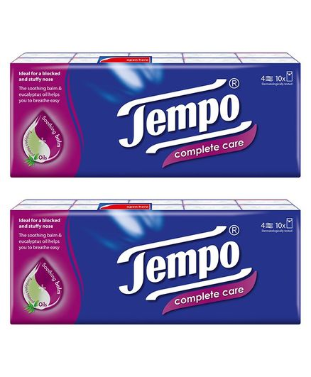 Tempo Protect Handkerchief Tissues 4 Ply - Pack of 20