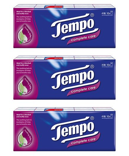 Tempo Protect Handkerchief Tissues 4 Ply - Pack of 30