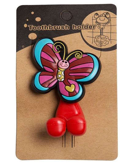 Little Nests Butterfly Toothbrush Holder - Red