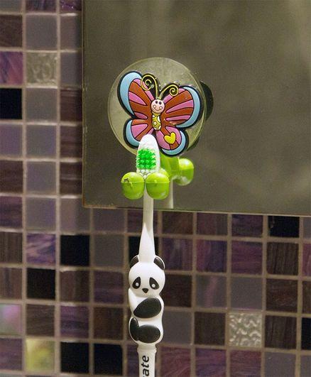 Little Nests Butterfly Shape Toothbrush Holder - Multicolour