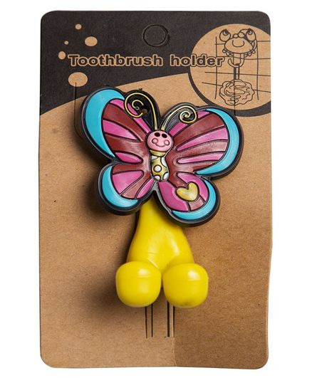 Little Nests Butterfly Toothbrush Holder - Blue Purple