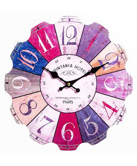 Little Nests Wall Clock - Multicolor
